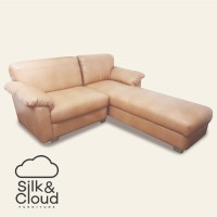 Silk&Cloud L seat sofa - Brown
