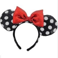 Disney parks Minnie mouse ear sequin headband bando anak disneyland 3