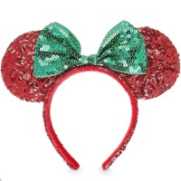 Disney parks Minnie mouse ear CHRISTMAS headband bando anak disneyland