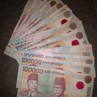 uang kuno 100000 polymer 1999 asli