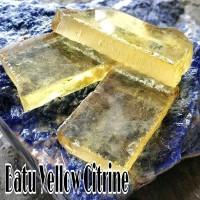 Bahan Batu YELLLOW CITRINE Rough Dijamin Murah - Kuning