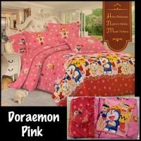 sprei bed cover doraemon pink