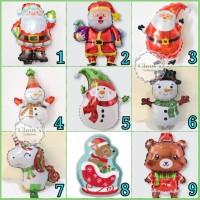 Balon Foil Merry Christmas / Balon Natal Aneka Karakter size Mini