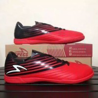 Sepatu Futsal Specs Barricada Genoa 19 IN (Black/Emperor Red/White)