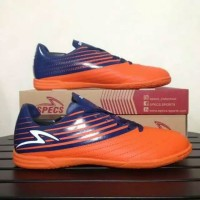 Sepatu Futsal Specs Barricada Genoa 19 IN (Spirit Orange/Galaxy Blue)