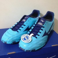 sepatu futsal mizuno monarcida 2FS IN blue aquarius