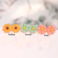 Anting Stud Simple Flowers 3D Lucu Unik GH 305551