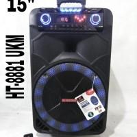 Speaker Meeting Asatron 15 inch Ht 8881+2mic wireless