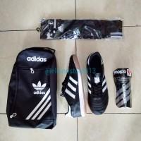 Paket Komplit Sepatu Futsal Kulit Adidas Classic