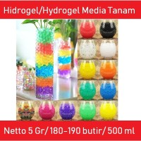 Hidrogel Hydrogel Media Tanam Hidroponik Super 5 Gram 500 ml