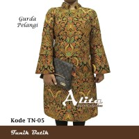 Tunik Batik Wanita Dress Batik Baju Atasan Blouse Batik Wanita 05