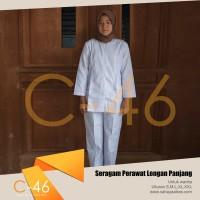 Baju Seragam Perawat Wanita Lengan Panjang | Uk S M L XL | Bidan