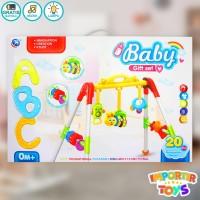 Baby Gym / Play Baby Gym FULL GIFT SET dengan Suara dan Lampu