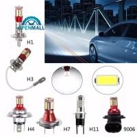 Lampu Kabut Mobil LED 4014 DC H4 / 47 / H11 / H3 / H1 / 9006 12V 6000K