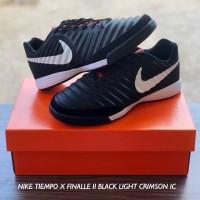 Sepatu Futsal Nike Tiempo X Finalle Black Light Crimson IC