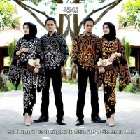 Maura Couple - Sania Ruffle Baju Batik Couple Ori Ndoro Jowi DNT
