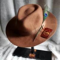 Topi Laken fedora dengan bahan KULIT SAPI Asli kualitas terbaik TOP