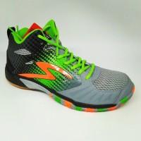 Sepatu olahraga specs quicker mid granite green origina STB7
