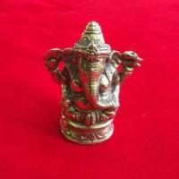 Patung Pajangan Arca Miniatur Kuningan Ganesha