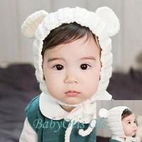 Bonnet Mouse Ears Cap Topi Kupluk Anak Bayi Rajut