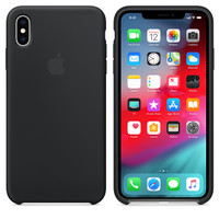 Apple Silicone Case iPhone Xs Max iPhone Xr iPhone X Xs - Hitam, iPhone Xr