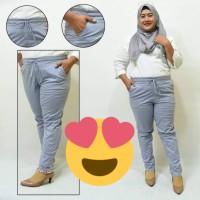 Baggy pants JUMBO joger celana katun 3R (bb 72-110kg)