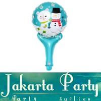 Balon Pentung Snowman / Balon Foil Natal / Balon Foil Xmas