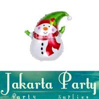 Balon Foil Kaos Snowman Mini 2 / Balon Foil Natal / Balon Foil Xmas