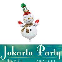 Balon Foil Snowman Mini / Balon Foil Natal / Balon Foil Xmas