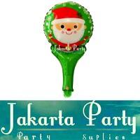 Balon Foil Tongkat Santa Clause / Balon Christmas / Balon X Mas