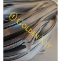 Karet Lis Sirip Lidah 726 Hitam Black Jendela Aluminium Seal 40 Meter