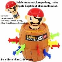 Mainan Keluarga Teman Roulette Bajak Laut Salah Tusuk Pirate Lompat