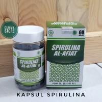 Spirulina Serbuk isi 60 kapsul spirulina Al afiat masker spirulina