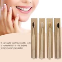SIKAT GIGI KAYU BAMBU /Bamboo Toothbrush with Box - sikat gigi ramah l