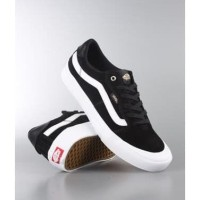 Sepatu Pria Vans Old Skool Garis Putih Sneakers