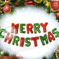 Balon Foil Huruf Set Merry Christmas / Natal