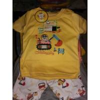 Setelan Baju Bayi Laki Laki Leeva Lengan Pendek 3 Bulan - 1 Tahun