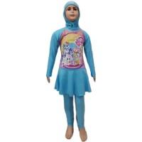 Baju Renang Anak Muslim SD Size M My Little Pony Unicorn Kuda Poni 2
