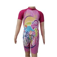 Baju Renang Diving Anak TK Cewek M Little Pony Unicorn Kuda Poni