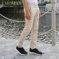 Emoman - Celana Chino Panjang Premium - Pinggang Karet