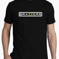 kaos t shirt kaos pria BRAZZERS bahan bagus warna hitam stok ada