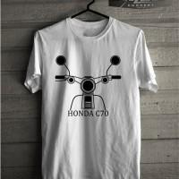 T-shirt Pria Kaos Big Size 3XL 4XL Honda C70 Classic