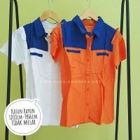 Baju Atasan Wanita Kemeja Wanita Polos orange