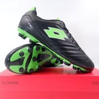 Sepatu Bola Lotto Stadio 300 II FG All Black Spring Green L57748-1NI O