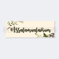 ISLAMI WALL DECOR HIASAN DINDING ASSALAMUALAIKUM DEKORASI DINDING