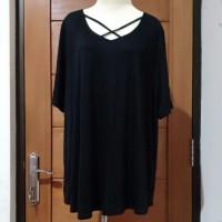 Atasan Baju Blouse Wanita Hitam Bigsize | Jumbo
