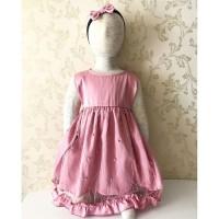 Selebgram Party Dress / Dress Anak Murah / Baju Pesta Anak Perempuan