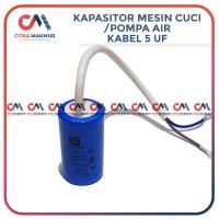 Kapasitor 5 uf Onecool Pompa Air Mesin Cuci Capasitor Sanyo kabel