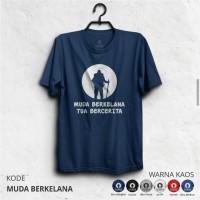 Kaos pendaki/Kaos gunung/ t-shirt MUDA BERKELANA Kaos Lengan Pendek