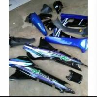 Honda supra fit lama cover body kasar dan halus set biru hitam